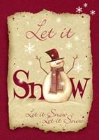 Framed Let It Snow 1