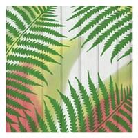 Framed Tropical  Leaves 2