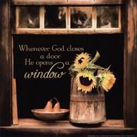 Framed God Opens Windows