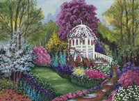 Framed Paradise Garden