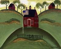 Framed Red School House Barn