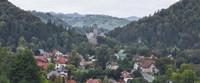 Framed Bran Castle, Bran, Brasov County, Transylvania, Romania