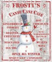 Framed Frosty's Candy Cane Cafe