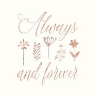 Framed Always and Forever Floral