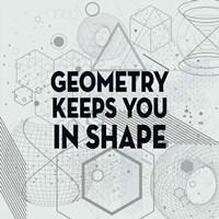 Framed Geometry Keeps You In Shape Light Pattern
