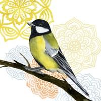 Framed Mandala Bird III