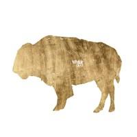 Framed Brushed Gold Animals I