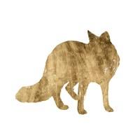 Framed Brushed Gold Animals III