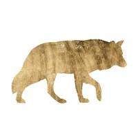 Framed Brushed Gold Animals IV