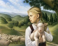 Framed Girl With Lamb