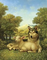 Framed Wolf Lies Down With The Lamb