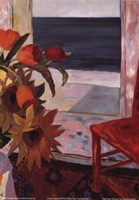 Framed Red Chair Terrace - detail