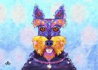 Framed Scottie Dog L