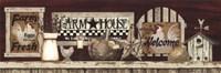 Framed Farm Rooster Shelf