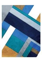 Framed Stipe Overlay Blue