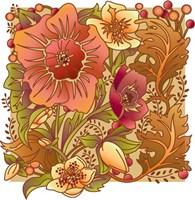 Framed Fall Flowers I