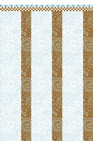 Framed Brown-Blue Quilt