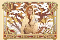 Framed Winter Nouveau