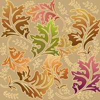 Framed Fall Flower V