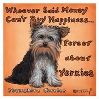 Framed Yorkies = Happiness