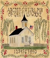 Framed American School House