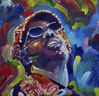 Framed Stevie Wonder
