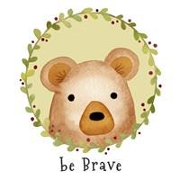 Framed Be Brave Bear