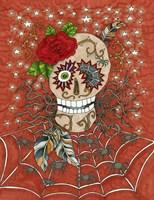 Framed Halloween Skull