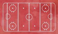 Framed Ice Hockey Rink Red Paint