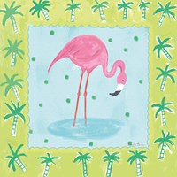 Framed Flamingo Dance III v2