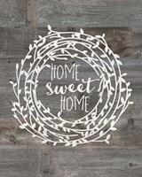 Framed Rustic Home Sweet Home