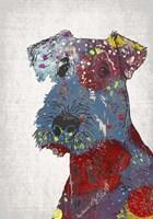 Framed Abstract Dog II