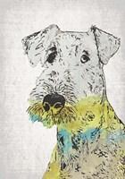 Framed Abstract Dog III