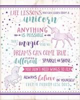 Framed Life Lessons Unicorn