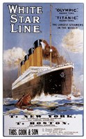 Framed White Star Line