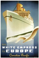 Framed White Empress