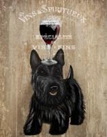 Framed Dog Au Vin, Scottish Terrier