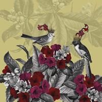 Framed Blooming Birds, Azalea