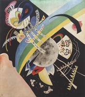 Framed Circles and Black, 1921