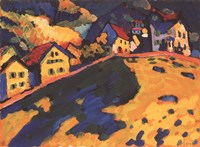 Framed Houses on a Hill, 1909
