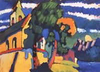 Framed Village Church in Riegsee, Bavaria, 1907