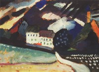 Framed Murnau, Schloss und Kirche II. Ca. 1909