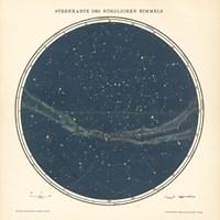 Framed Celestial Sphere North