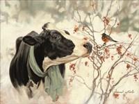 Framed Winter Robin