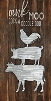 Framed Metal Farm Animal Stack