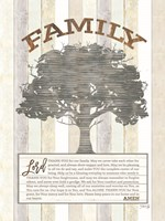 Framed Family Prayer Tree