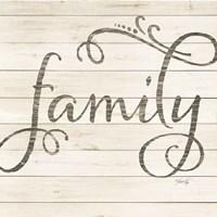 Framed Simple Words - Family