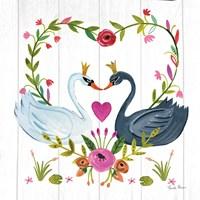 Framed Swan Love III