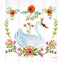 Framed Swan Love I