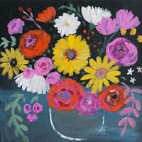 Framed Midnight Floral